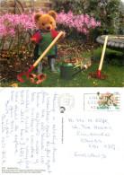 Teddy Bear, Gardener Bear, Guernsey Postcard Posted 1996 Stamp - Guernsey