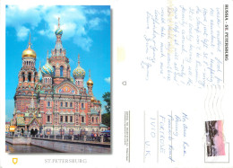 Cathedral, St Petersburg, Russia Postcard Posted 2009 Stamp - Russie