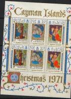 1971 Cayman Christmas Miniature Sheet Of 6  MNH - Iles Caïmans