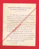 Guerre 14-18 Lettre D'Arrestation D'un Déserteur Dans Les Bureaux De La Mairie De ROSNY SOUS BOIS En 1917 ... - Vieux Papiers