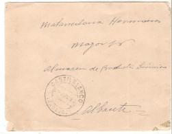 Carta Con Salida En Castilblanco(badajoz) 29-6-1937, Sin Franqueo Y En El Anverso Nota Certificada De Carencia De Sellos - 1931-50 Brieven