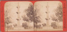 75007-PARIS-Puits Artésien De Grenelle, Place De Breteuil...  Animé  (Photo Stéréoscopique 19° - 8,5x17,5) - Stereoscopic