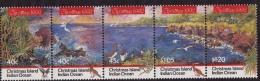 Christmas Islands (Sc # 347) MNH  (Complete Set Strip Of 5) Christmas  (1992) - Christmas Island