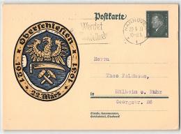 DR, BILDPOSTKARTE, P 190 OBERCHLESIEN, GANZSACHE POSTAL STATIONERY, Hannover - Allemagne