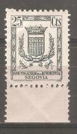 Viñeta De 25cts Segovia - Viñetas De La Guerra Civil