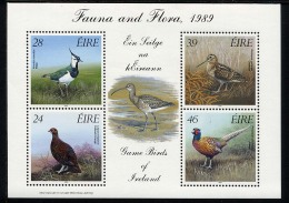 IRLANDE IRELAND 1989,  OISEAUX GIBIER, Feuillet De 4 Valeurs, Neuf / Mint. R382