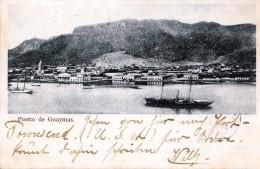 Puerto De GUAYMAS (Mexico), Sehr Schöne Karte Mit 2 Fach Frankierung, Gelaufen 1904, Gute Erhaltung - Mexiko