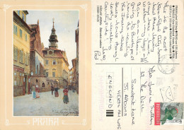 Prague Praha, Czech Republic Postcard Posted 1998 HUNGARY Stamp - Czech Republic