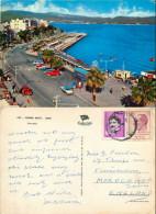 Cars Bus Harbour, Izmir, Turkey Postcard Posted 1968 Stamp - Turquie