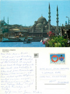Yeni Cami Mosque, Istanbul, Turkey Postcard Posted 1988 Stamp - Turquie