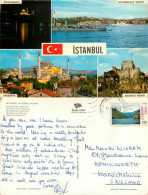 Istanbul, Turkey Postcard Posted 1976 Stamp - Turchia