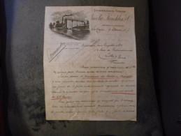 Ancienne Facture Stoom Meelfabriek Voorheen Nicola Koechlin S'Gravenhage La Haye 1907 - Pays-Bas
