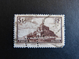FRANCE L N° 260 L.L. 89 Indice 4 Monument Perforé Perforés Perfins Perfin Tres Bien!! - Perfins