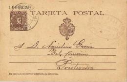 18549. Entero Postal LA TOJA (Pontevedra) 1901. Fechador CAMBADOS