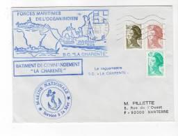 "B.C. "" LA CHARENTE "" - MARINE NATIONALE - 26/01/1983 - Naval Post"