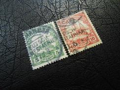 D.R.25+26a  5/10Pf   Deutsche Kolonien (Deutsch-Südwestafrika) 1906 - Colony: German South West Africa