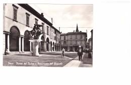 Italie Pavia Pavie Piazza Del Duomo E Monumento Del Regisole , Carte Non Voyagée - Pavia