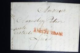 Complete Brief 1847 Poste Restante Amsterdam (gekapt)naar Leiden - ...-1852 Voorlopers