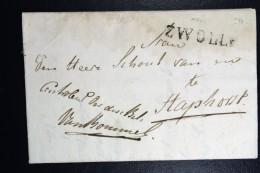 Complete Brief 1816 Zwolle (gekapt)naar Staphorst - Pays-Bas