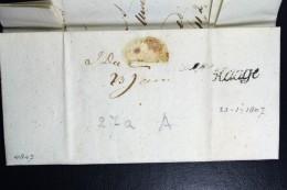 Complete Brief 1807 (gekapt) Den Haag Geuzendam 15 Naar Schiedam - Pays-Bas