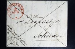 Complete Brief 1834 Aangetekend Leeuwarden Naar Schiedam - Pays-Bas