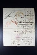 Complete Brief 1831 Amsterdam Naar Schneeberg Duitsland - Nederland