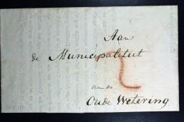 Komplete Brief 1799  Van Texel Via Haarlem  Cursief Naar Oude Wetering Van Gewapende Burgerwacht  Departement Texe - Pays-Bas