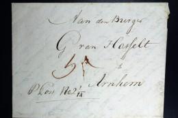 Komplete Brief 1799  Van Haarlem  Cursief Aan Den Burger .. Te Arnhem - Niederlande
