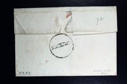 Cover Van SCHIEDAM Rond Stempel 27 Mm Geuzendam Type 2, RRR Naar Groningen 1810 - ...-1852 Voorlopers