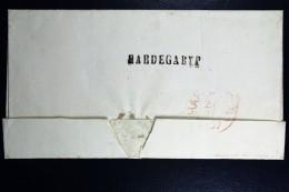 Cover Van HARDEGARYP Via Leeuwarden Naar Harlingen 1857 - ...-1852 Voorlopers