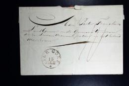 Cover Van Goes TER GOES In Cirkel Naar Middelburg 1829 ?  RR - Pays-Bas