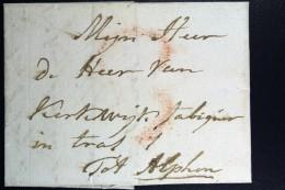 Complete Letter Den Haag Naar Alphen  Portstempel 3 Stuiver Stempel En HAAG - ...-1852 Voorlopers