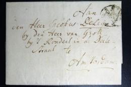 Complete Letter Den Haag  Naar Amsterdam 1803 HAAG  3 Stuiver Port Stempel - Pays-Bas