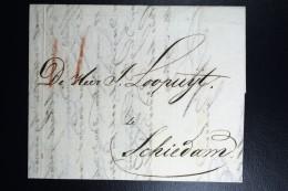 Complete Letter Den Haag  Naar Schiedam 1810   3 Stuiver Port Stempel - ...-1852 Voorlopers