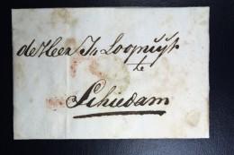 Complete Letter Den Haag  Naar Schiedam 18   3 Stuiver Port Stempel + HAAG - ...-1852 Voorlopers