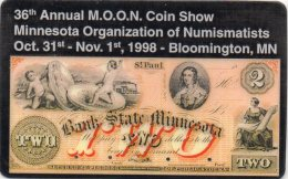 36th Annual M.O.O.N. Coin Show 1998 =old Banknote = VERY RARE !!! 100 Only - United States