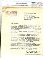 Rare Lettre De Marcel L Herbier On Y Parle De Louis Jouvet Et De Fernandel - Autographes