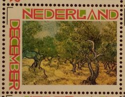 Persoonlijke December Postzegel D12c Mobiele OKI Printer Postaumaat 2013 Vincent Van Gogh Olive Groves (2) - Netherlands
