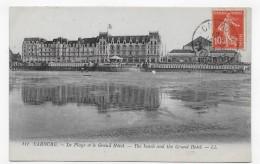 (RECTO / VERSO) CABOURG EN 1919 - N° 111 - LA PLAGE ET LE GRAND HOTEL - BEAU CACHET - CPA - Cabourg