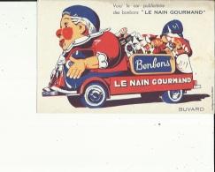 Buvard G F_21 X 13- De ( LE NAIN GOURMAND  Bonbons....Voir San - Food