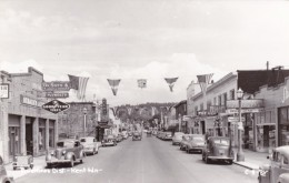 Kent Washington, Business District Street Scene, Auto, Goodyear Tires, DeSoto Plymouth Auto Sign C1940s Vintage Postcard - United States