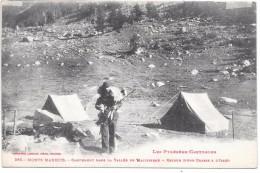 MONTS MAUDITS - Campement Dans La Vallée De Malibierne - Retour D'une Chasse à L'Isard - Frankrijk