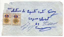 ANGOLA--Lettre D'Angola Pour La France  (timbres NON Oblitérés) - Angola