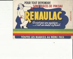 Buvard G F_21 X 13- De ( RENAULAC ...Peintures_Toutes Nuances Au Meme Prix...Voir San - Paints