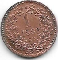 *hungary 1 Krajzar  1886  Km 458   Vf+ Catalog Val 20,00$ - Hongrie
