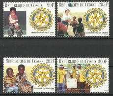 CONGO  1996  ROTARY,IMMUNISATION,CHILD HEALTH  SET MNH - Rotary, Lions Club