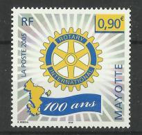 MAYOTTE 2005 100th ANNIVERSARYOF ROTARY MNH - Rotary, Lions Club