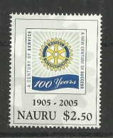 NAURU 2005 100th ANNIVERSARYOF ROTARY MNH - Rotary Club