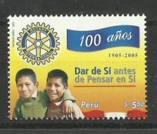 PERU  2005  ROTARY MNH - Rotary, Lions Club