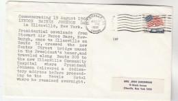 1966 PRESIDENT JOHNSON  VISIT ELLENVILLE COMMUNITY HOSPITAL Health Medicine Stamps USA - Medicine